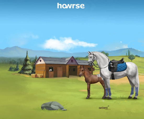 Horse browser game