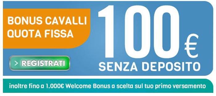 betflag bonus 100 euro cavalli quota fissa